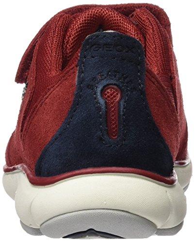 Geox J Nebula A, Baskets Basses Garçon Rot (RED/NAVYC7217)