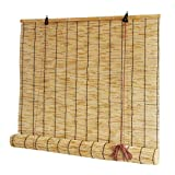 AA-Curtain CULI Tende da Sole Portico/Esterno, Canne da Esterno/Balcone/Cucina/Patio Lucernario Protezione Solare Privacy Togliere Il Buio, 80/100/120 / 140cm Largo