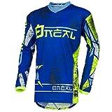 O'Neal Element Zen Motocross Jersey MX Enduro MTB DH Cross Trikot Mountain Bike Gelände, 001E-0Adult, Farbe Blau, Größe S