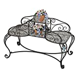 Design Toscano Back-to-Back Metal Courting Bench