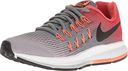 Zapatillas de running Nike Zoom Pegasus 33 (GS) para ni?o (3.5Y-7Y) Cool Grey / Black / Wolf Gray / Track Red Size 4 M US
