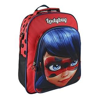 51WXq6JnZ6L. SS324  - Mochila Escolar de Ladybug con Relieve 31x41x13 cm