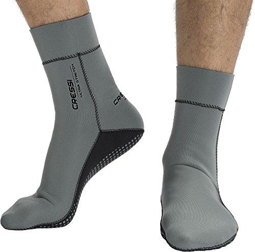 Cressi Ultra Stretch Neoprene Socks 1.5mm Tauchsocken, Grau, L