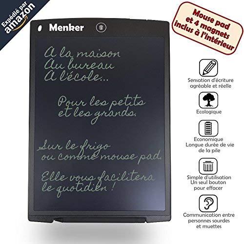 Tableta de escritura Menker de 12 'con alfombrilla de ratón y 4 imanes...