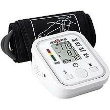 niceEshop(TM) Automático de Brazo para LCD Digital LCD Monitor de Presión Arterial Latido Inicio Esfigmomanómetro, Blanca