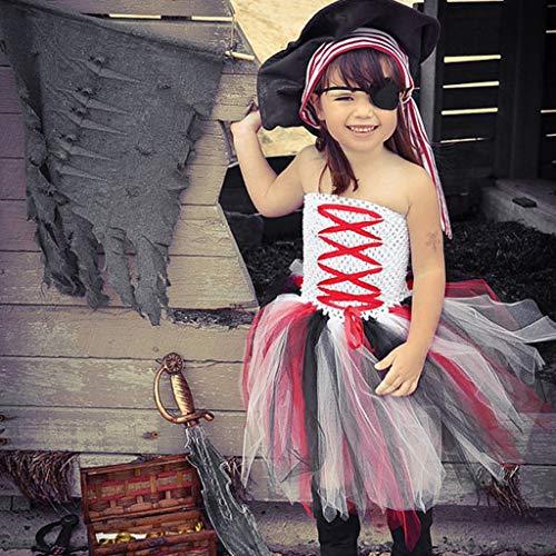 Halloween ärmelloses Netzkleid Kleinkind scherzt Baby-Halloween-Kleidung-ärmelloses Tulle-Partei-Prinzessin Dress ()