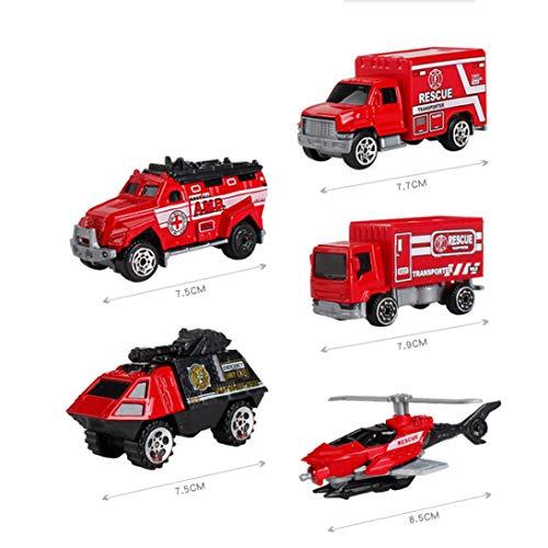 5 STÜCKE / 1 Satz Kinder Legierung Auto Engineering Modell Spielzeug Metall Lernspielzeug für Alter über 3 Jahre Jungen und Mädchen (D)
