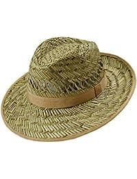 EveryHead Fiebig Sombrero De Paja Los Hombres Verano Playa Vacaciones Equinácea Gorro Fiesta Unisex Con Marrón Banda Acanalada… AhEXs