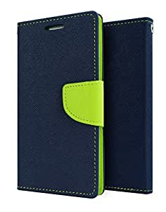 Flip Cover For One Plus One (Blue Green) Original Premium PU Leather Flip Diary Card Pocket Designer Case Cover Stand with Screen Film Protector By 1by1