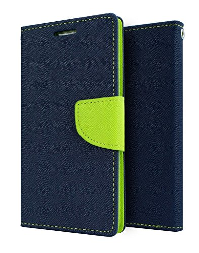 flip cover for Micromax Canvas Juice A77/A177 (Blue Green) Original Premium PU Leather Flip Diary Card Pocket Designer Case Cover Stand with Screen Film Protector By 1by1  available at amazon for Rs.177