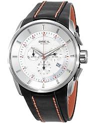 Breil BW0489 - Reloj cronógrafo de caballero de cuarzo con correa de piel negra (cronómetro)