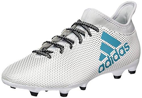 adidas Herren X 17.3 FG Fußballschuhe, Weiß (Footwear White/Energy Blue/Clear Grey), 46 EU