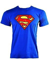 Officiellement Marchandises Sous Licence SUPERMAN - LOGO T-Shirt (Bleu)