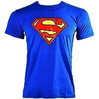 T Shirt DC Comics Superman Emblem (Blu)