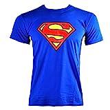 Mercanzie Licenza Ufficiale SUPERMAN - LOGO T-Shirt (Blu), Medium