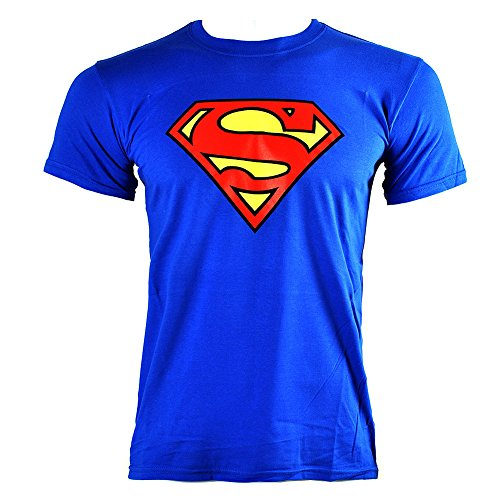 T Shirt DC Comics Superman Emblem (Blu) - X-Large