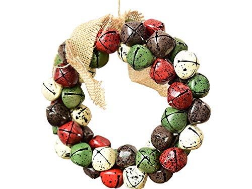 Heelinna natale campana di natale ghirlanda porta ornamenti appesi in camera albero di natale pendenti per la decorazione (colorato)