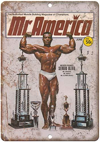 CHUNZO Mr America Sergio Oliva Weider Bodybuilding Blechschilder Schilder Eisen Malerei Blech Plakat Warnung Plakette hängende Kunst Plakate Dekorative Cafe Bar