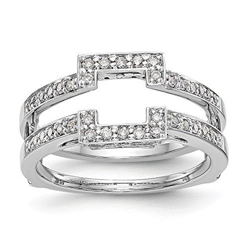 Ringschutz 14 Karat (585) Weißgold Diamant (0,426 Karat, H-SI2) -