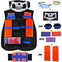 Gilet tattico per Nerf N-Strike Serie Elite, CRMICL Tactical Vest Gilet Tattico Giubbotti Kit per Bambini Kit da giubbotto tattico del del jungle dei capretti per la serie di elite di N-Strike del giocattolo di Nerf