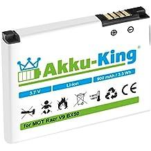 Akku-King Akku für Motorola Razr V9, Razr2 V9, Zine ZN5 - Li-Ion ersetzt BX50, SNN5806 900mAh