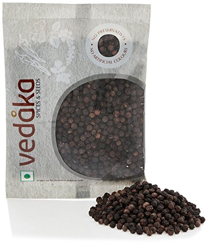 Amazon Brand – Vedaka Black Peppercorn (Kali Mirch), 100g
