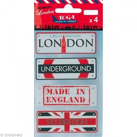 Toga Destination Londres-Juego 4Placas