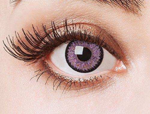 aricona Kontaktlinsen Farblinsen farbige Kontaktlinsen ohne Stärke Big Eyes Circle Lenses rosa