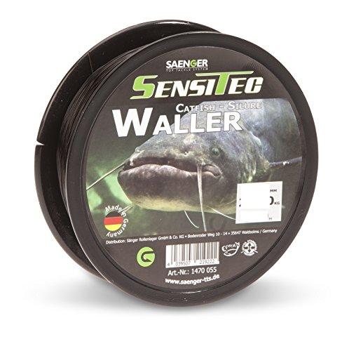 SENSITEC WALLER/Wels - Farbe: dunkelbraun - Ø 0,50mm/19,80kg/300m NEW 2018 Angelschnur monofil Sänger - Sänger Schnur