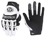 Seibertron Herren Handschuhe Dirtpaw Race Fahrrad Handschuhe sporthandschuhe für Radsport MTB Mountainbike Outdoor Sport Bike Gloves (weiß, L)