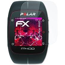 Polar M400 Glasfolie - atFoliX FX-Hybrid-Glass hartbeschichtete elastische 9H Kunststoffglas Folie - besser als Echtglas Panzerglas