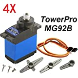 Generic 4X Towerpro MG92B Robot 13. 8g 3. 5KG Torque Metal Gear Digital Servo One Piece