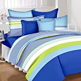 #6: HighLife Ahmedabad Cotton Superior Cotton Double Bedsheet With 2 Pillow Covers - Improved Sky Blue/Royal Blue