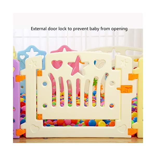 LIUFS-Playpens Game Fence Indoor Fence Crawling Mat Home Children Fence Safety Fence Toddler Toys (color : Multi-colored, Size : 12+2 fence) LIUFS-Playpens - The fence is specially designed with a rubber base underneath, which can be firmly fixed to the floor and will not be pushed or towed by children. - Non-toxic, non-circulating high density polyethylene material without any odor. Over the years, molding technology has made the structure more durable and durable. Any form of manual deburring can prevent your baby from getting hurt. - The height of the fence is long enough to stand and walk, and each set has different game toys for children to play. 5