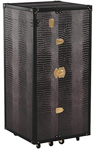 Butlers Hemingway Barschrank - Antike Hausbar aus Holz - Kofferbar mit Weinregal, Schubladen und Stauraum