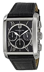 Raymond Weil Men's Automatic Chronograph Stainless Steel black crocodile strap Watch 4878-Stc-00200