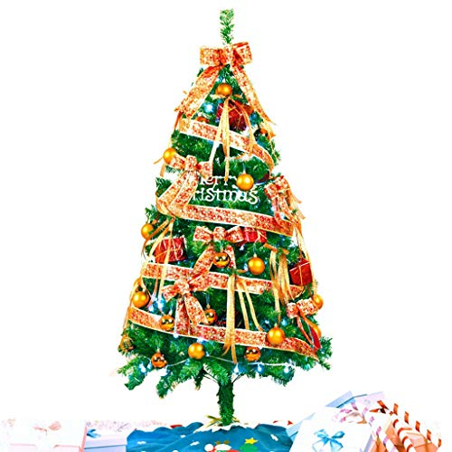 Albero di natale criptato classico, pacchetto albero di natale, lampada a sospensione a forma di albero di natale, 1,5/2,1 metri di altezza (dimensione : 210cm)
