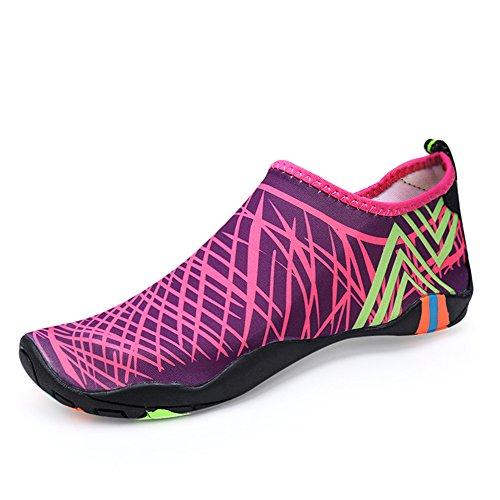 Santiro Unisexe Homme Femme Chaussures pour Nager et pour Tous Les Sports de Plage et d'eau. Rose