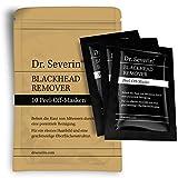 Black mask: Dr. Severin Blackhead Remover peel-off mask. Paquete de 10 Mascarilla de carbón activo, contra la piel manchada, desintoxicación para la cara, asesino de espinillas, limpieza profunda de poros, poros reducidos, efecto antienvejecimiento. Dr. Severin original. Garantía de satisfacción. Hecho en Alemania.