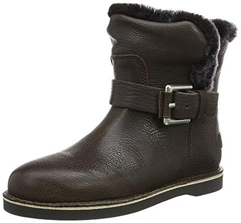 Shabbies Amsterdam Damen Shabbies Buckle Strap Short Boot 17cm Merino Lammy Lining Alexia Schlupfstiefel, Grau (Grey), 41 EU