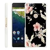 Huawei Nexus 6P Case Rose,Gifun Slim White Hard Back Case