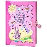 Color rosa hada, mariposa y castillo de las niñas diario secreto con puzzles & Activities | con cerradura para diario con candado y llaves | gloryland Store