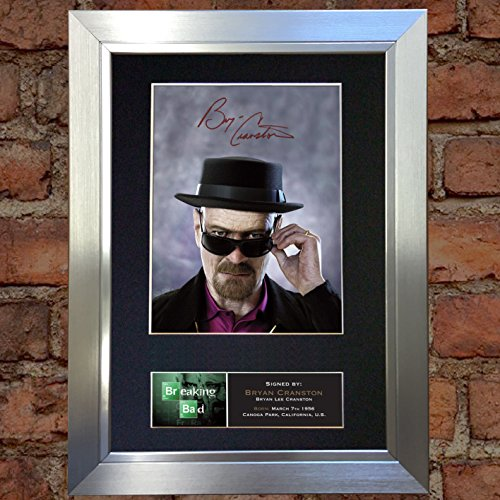 BRYAN CRANSTON Breaking Bad Signed Autograph Mounted for sale  Delivered anywhere in UK