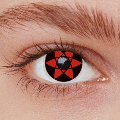 Trucco Halloween: lenti a contatto stella rossa