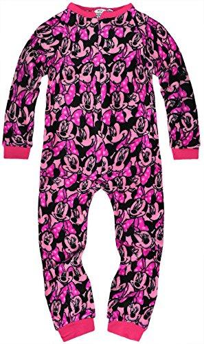 Bambina ufficiale disney minnie mouse-pigiama-tuta intera da bambino, colore: rosa