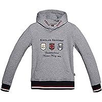 King País Capucha Sweater Leeds para niños en Dark Grey, Talla 122/128