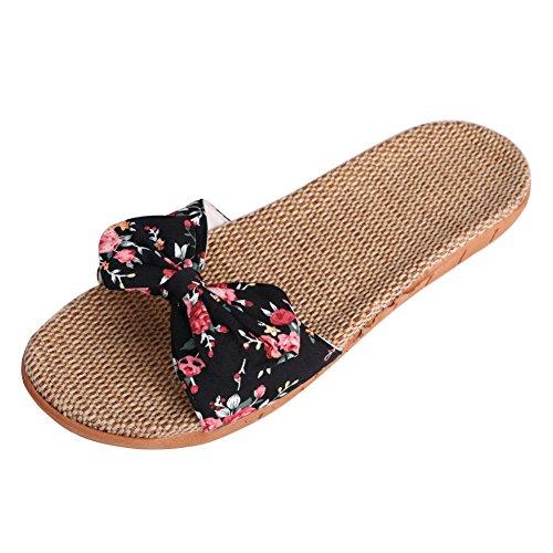 Sandalias planas mujeres chanclas punta abierto Lin