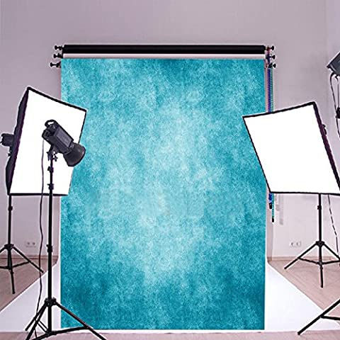 FLORATA 5x7ft Vinyl Ocean Blue Backdrop Background Ideal for Wedding Party Newborn Children and Product Photography Video Backdrops Pattern for Kids Baby Photo Studio Portrait Shooting