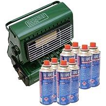 Dinex - Estufa de gas portátil (incluye 8 recambios)