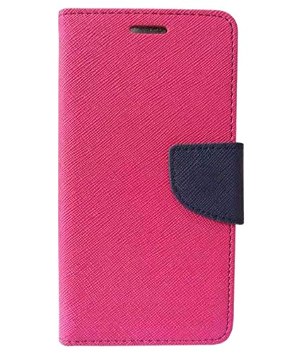 Zocardo Fancy Diary Wallet Flip Case Cover for Panasonic T40 - Pink - Premium Cover with Inner Pocket